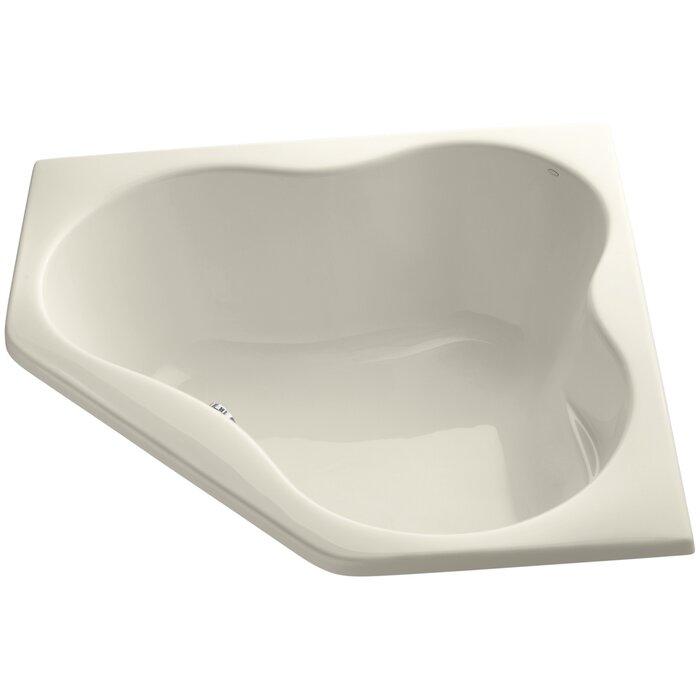 heated soaking tub kohler left drain soaking tub in biscuit with - Kohler Archer Tub