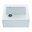 """White Reliance Embossed 25"""" x 22.25"""" Farmhouse/Apron Kitchen Sink"""