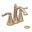 Bronze Savvy Two Lever Handle Centerset Bathroom Faucet