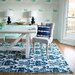 Charlton Home Leonard Blue Cream Area Rug Amp Reviews Wayfair