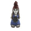 Design House Skeleton Lady Gnome with Flower Statue