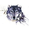 Art Group Snow Wolf by Sarah Stokes Canvas Wall Art