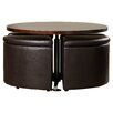 Red Barrel Studio Dempsey Gas Lift Coffee Table With Ottomans Reviews Wayfair