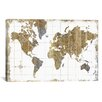 Varick Gallery® Gilded Map Graphic Art on Wrapped Canvas