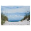 Beachcrest Home Ocean Path Photographic Print on Wrapped Canvas