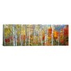 East Urban Home Panoramic Fall Trees, Shinhodaka, Gifu, Japan Photographic Print on Canvas