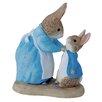 Beatrix Potter Mrs Rabbit and Peter Figure