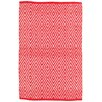 Dash and Albert Rugs Diamond Red/White Indoor/Outdoor Area Rug