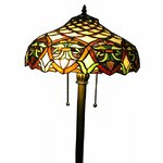 Warehouse Of Tiffany Flower 72 Quot Torchiere Floor Lamp