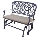 florence glider bench with cushion - Glider Bench