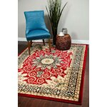 Mayberry Rug Lifestyles Ivory Garden Chintz Area Rug