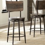 Three Posts Waverly 24 Quot Wood Bar Stool With Cushion