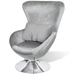 Polyester Sessel Silber