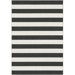 Teppich in Schwarz/Weiß
