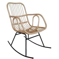 Schaukelstuhl mit handgeflochtener Sitzschale