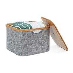 Stoffkorb / Box grau