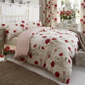 Catherine Lansfield Wild Poppies Duvet Set Amp Reviews