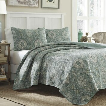 Tommy Bahama Bedding Turtle Cove Lagoon Reversible Quilt