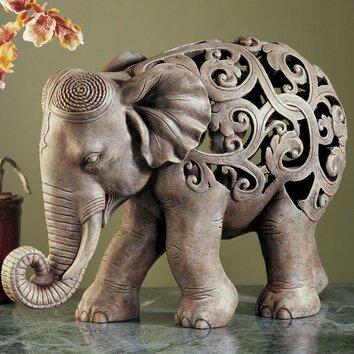 World Menagerie Anjan the Elephant Jali Figurine & Reviews ...
