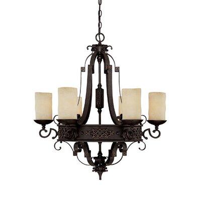 capital lighting river crest 6light shaded chandelier u0026 reviews wayfair - Capital Lighting