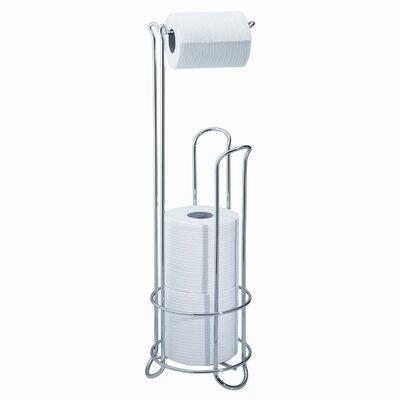 interdesign classico free standing toiletpaper holder stand plus u0026 reviews wayfair