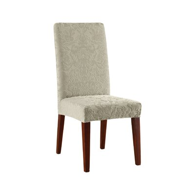 sure fit stretch jacquard damask dining chair slipcover u0026 reviews wayfair