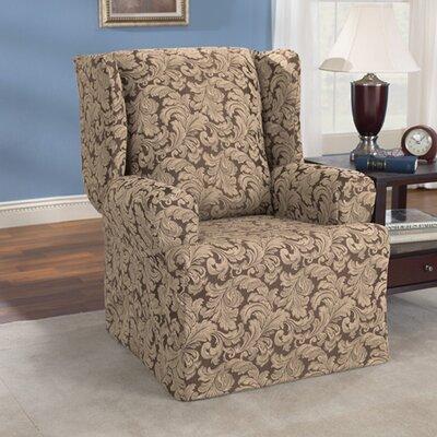 Sure Fit Scroll Classic T Cushion Wingback Slipcover U0026 Reviews | Wayfair