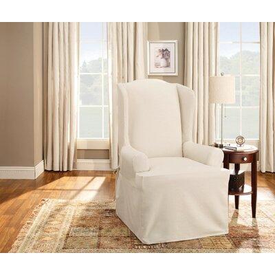Sure Fit Cotton Duck T Cushion Wingback Slipcover U0026 Reviews | Wayfair
