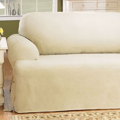 Sure Fit Cotton Duck T Cushion Sofa Slipcover U0026 Reviews | Wayfair
