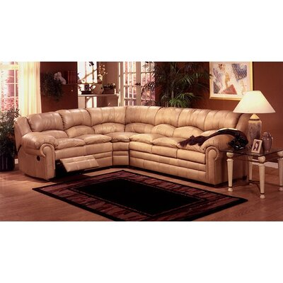 leather reclining sectional sofa damon riviera with chaise and cup holders