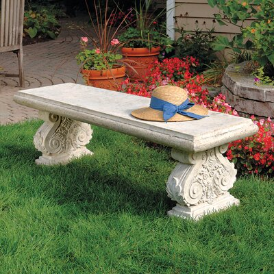 Design Toscano Stone Garden Bench U0026 Reviews | Wayfair