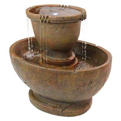 Design Toscano Richardson Resin Oval Urns Cascading Garden Fountain With  LED Light U0026 Reviews   Wayfair