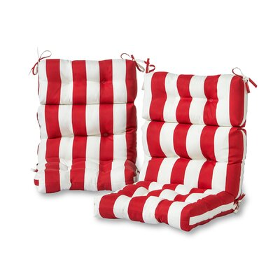 Greendale Home Fashions Cabana Stripe High Back Outdoor Lounge Chair Cushion  U0026 Reviews | Wayfair
