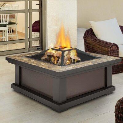 Real Flame Alderwood Steel Wood Burning Fire Pit Table U0026 Reviews | Wayfair