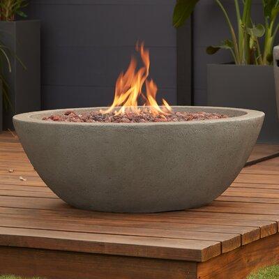 Real Flame Riverside Concrete Propane Outdoor Fireplace U0026 Reviews | Wayfair