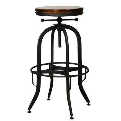 New Pacific Direct Industrial Adjustable Height Swivel Bar Stool & Reviews  | Wayfair - New Pacific Direct Industrial Adjustable Height Swivel Bar Stool