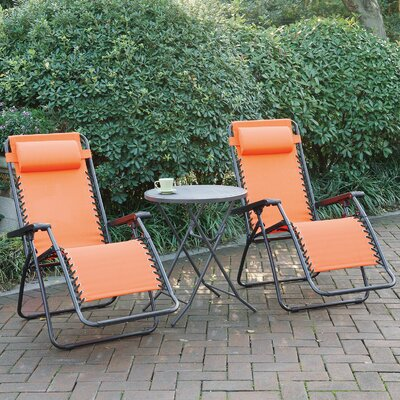 Poundex Lizkona Gavin Zero Gravity Patio Lounge Chair With Cushion U0026  Reviews | Wayfair