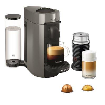 delonghi nespresso vertuo plus coffee and espresso singleserve machine with aeroccino milk frother wayfair