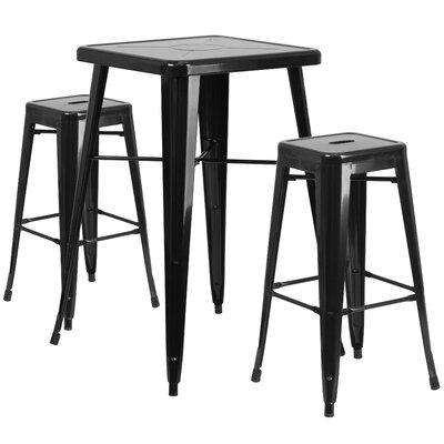 Zipcode Design Athens 3 Piece Bar Table Set U0026 Reviews   Wayfair