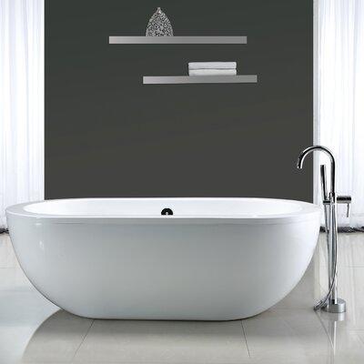freestanding tub.  Serenity 71 x 34 Acrylic Freestanding Bathtub Reviews AllModern