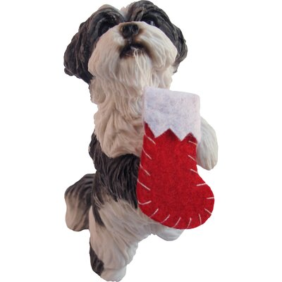Sandicast Standing Shih Tzu Christmas Ornament & Reviews | Wayfair