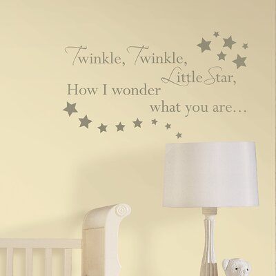 Baby Twinkle, Twinkle Nursery Rhyme 23 Piece Wall Decal Set U0026 Reviews |  Wayfair