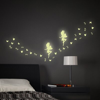 Fairy Glow In The Dark 34 Piece Wall Decal Set U0026 Reviews | Wayfair Part 46