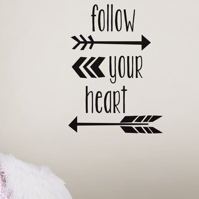 Wallpops 6 piece follow your heart quote wall decal set reviews 6 piece follow your heart quote wall decal set reviews wayfair thecheapjerseys Image collections