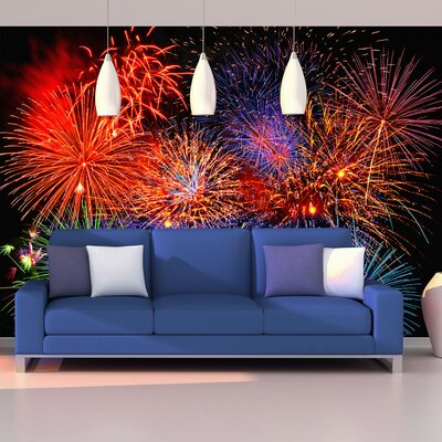Brewster Home Fashions Ideal Décor Fireworks Wall Mural U0026 Reviews | Wayfair Part 95