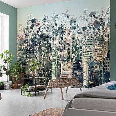 brewster home fashions komar urban jungle wall mural wayfair brewster home fashions komar romantic pop wall mural