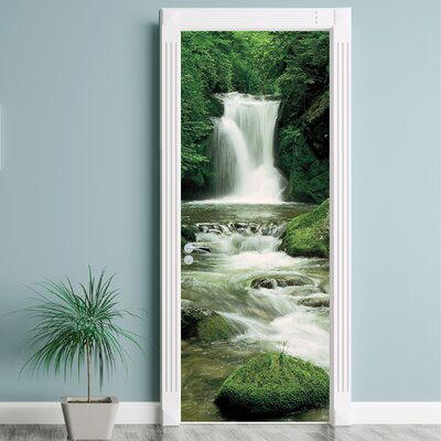 Brewster home fashions komar ellowa falls oregon wall for Brewster home fashions komar wall mural