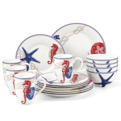lenox oceanside 16 piece dinnerware set service for 4 u0026 reviews wayfair - Lenox Dinnerware