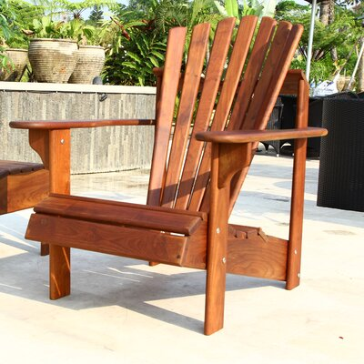 signature teak adirondack chair