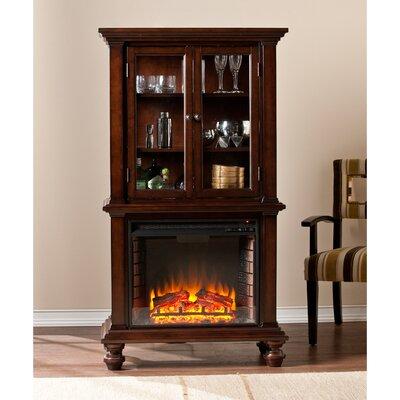 Wildon Home ® Suttonfield Curio Electric Fireplace & Reviews   Wayfair